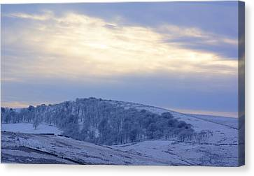 Winter Dusk Near Buxton Canvas Print by David Birchall