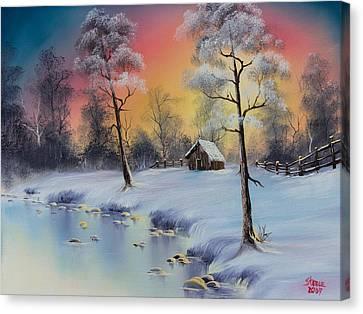 Winter's Grace Canvas Print by C Steele