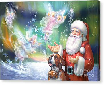 Winter Fairies Canvas Print by Zorina Baldescu