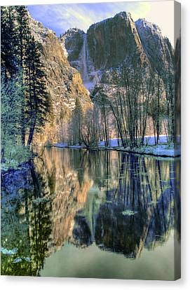 Winter Falls Canvas Print by Bill Gallagher