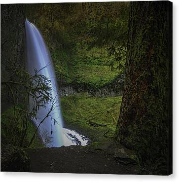 Winter Falls Canvas Print by Jean-Jacques Thebault