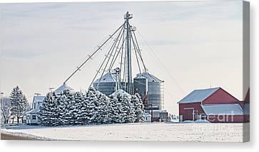 Winter Farm  7365 Canvas Print by Jack Schultz