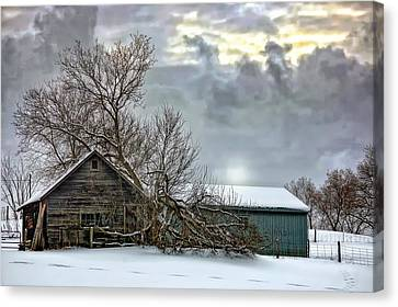 Winter Farm II Canvas Print by Steve Harrington