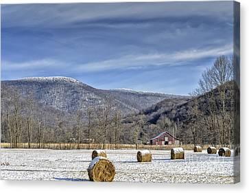 Winter Farm West Virginia Canvas Print by Thomas R Fletcher