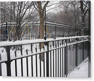 Winter Fences Canvas Print by James Dolan