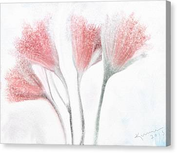 Winter Flowers Canvas Print by Kume Bryant