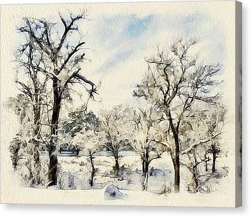 Winter Forest Landscape 16 Canvas Print by Yury Malkov