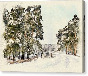 Winter Forest Landscape 18 Canvas Print by Yury Malkov