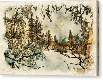 Winter Forest Landscape 2 Canvas Print by Yury Malkov