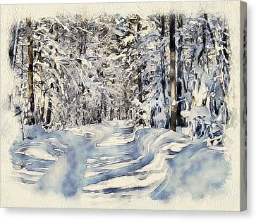 Winter Forest Landscape 22 Canvas Print by Yury Malkov