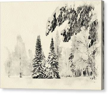 Winter Forest Landscape 3 Canvas Print by Yury Malkov