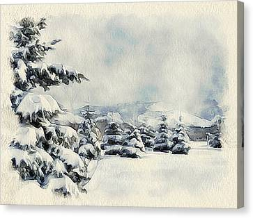 Winter Forest Landscape 5 Canvas Print by Yury Malkov