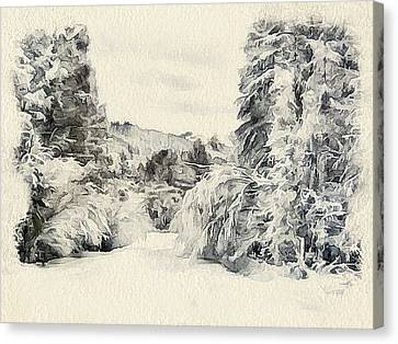 Winter Forest Landscape 7 Canvas Print by Yury Malkov