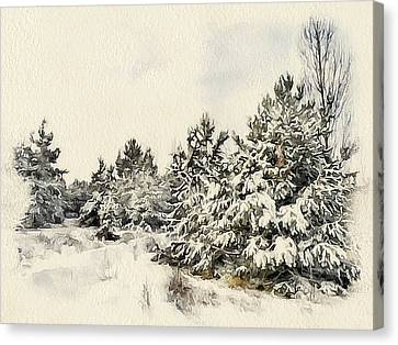 Winter Forest Landscape 9 Canvas Print by Yury Malkov