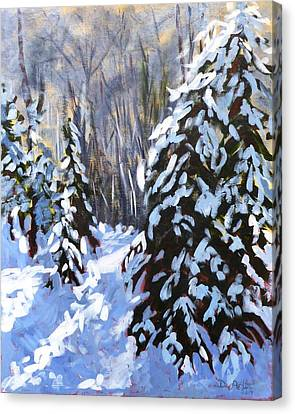 Winter Forest Walk Canvas Print