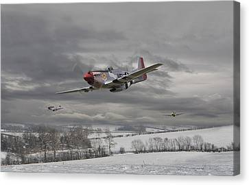 Fighter Canvas Print - Winter Freedom by Pat Speirs