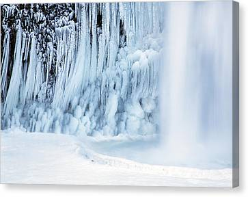 Ice Formations Canvas Print - Winter Freeze by Angie Vogel