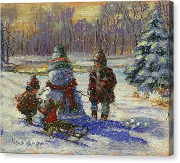 Winter Friend Canvas Print by Marcia Johnson