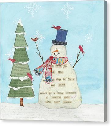Winter Fun II Canvas Print by Courtney Prahl