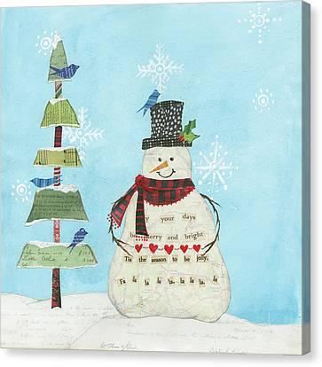 Winter Fun Iv Canvas Print by Courtney Prahl