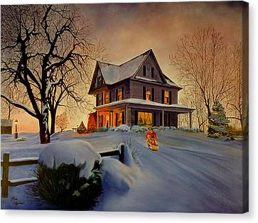 Winter Fun Canvas Print by Rick Fitzsimons