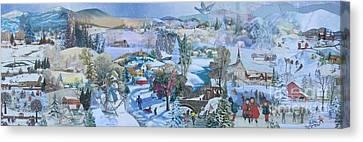 Winter Fun - Sold Canvas Print by Judith Espinoza