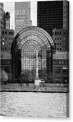 Winter Garden At World Trade Financial Center New York City Canvas Print
