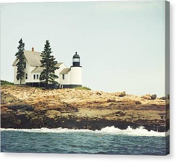 Winter Harbor Canvas Print by Carolyn Cochrane