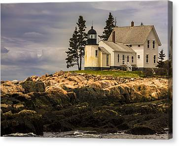 Winter Harbor Lighthouse Canvas Print