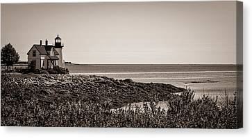 Winter Harbor Lighthouse Canvas Print by Wayne Meyer