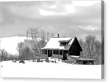Winter Home Canvas Print by John Haldane