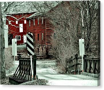 Winter Home Canvas Print by Sharon Costa
