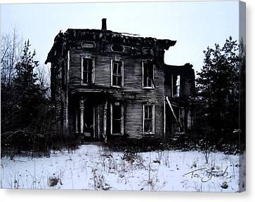 Winter Home Canvas Print by Tom Straub