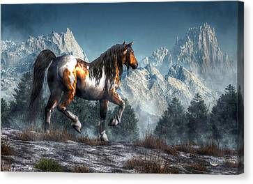 Winter Horse Canvas Print