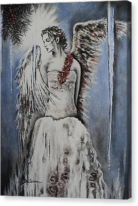 Winter Ice Angel Canvas Print by Carla Carson