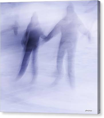 Canvas Print featuring the photograph Winter Illusions On Ice - Series 1 by Steven Milner