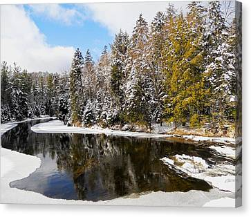 Canvas Print featuring the photograph Winter Impressions ... by Juergen Weiss