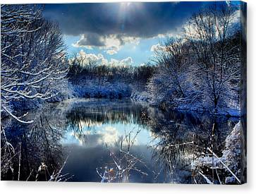 Canvas Print featuring the photograph Winter In April 2014 by Jerome Lynch