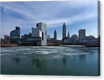 Winter In Cleveland Canvas Print by Dale Kincaid