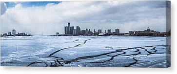 Winter In Detroit  Canvas Print by John McGraw
