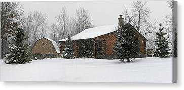 Winter In Galena Canvas Print by Gary Lobdell