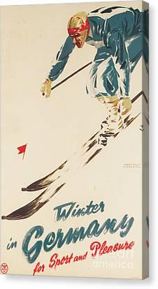 Alpine Canvas Print - Winter In Germany by H Plessen