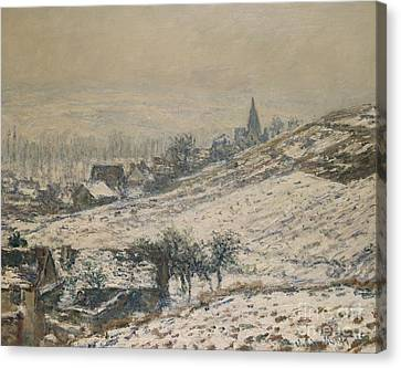Winter In Giverny Canvas Print by Claude Monet