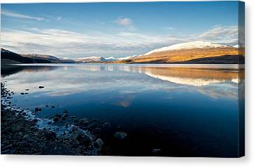 Canvas Print featuring the photograph Winter In Glencoe by Stephen Taylor
