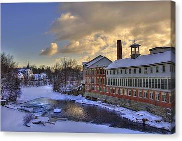 Winter In Milford New Hampshire Canvas Print by Joann Vitali