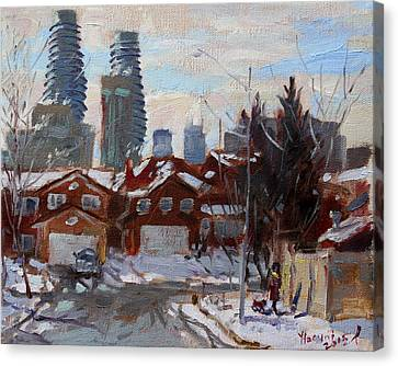 Winter In Mississauga  Canvas Print by Ylli Haruni