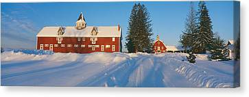 Winter In New England, Mountain View Canvas Print by Panoramic Images