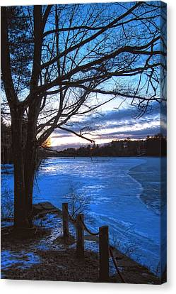 Winter In New Hampshire Canvas Print by Joann Vitali