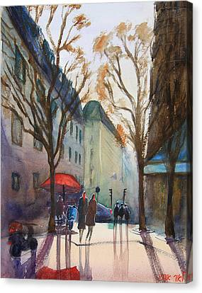 Winter In Paris Canvas Print by Lior Ohayon