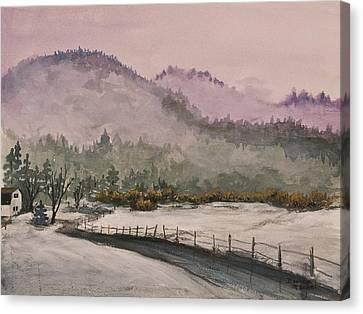 Winter In Quincy Canvas Print by Darice Machel McGuire
